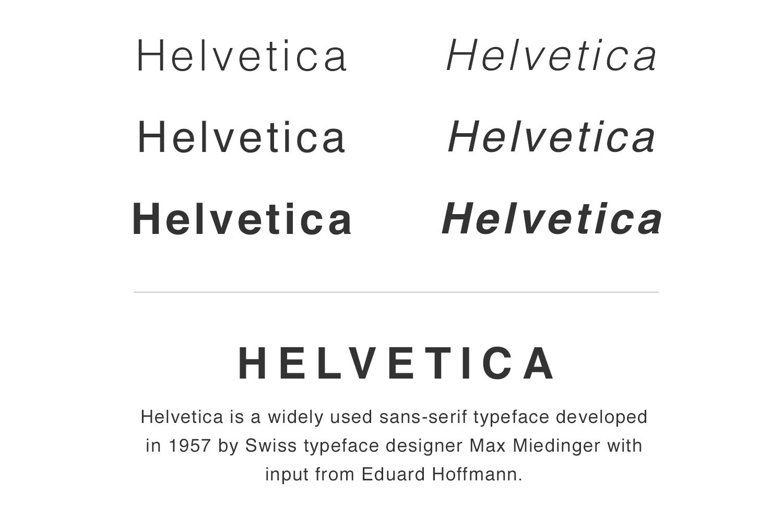 Helvetica font family sample by Natsumi Nishizumi