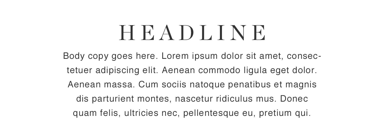 Font pairing sample by Natsumi Nishizumi