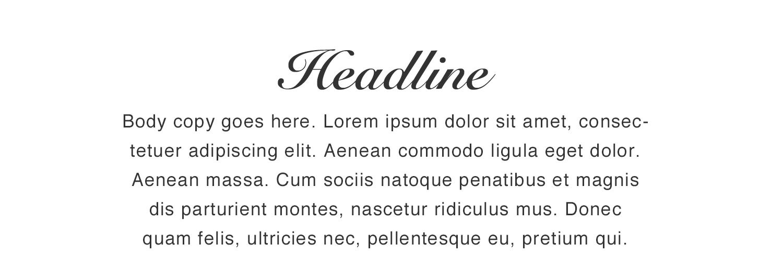 Script font pairing sample by Natsumi Nishizumi