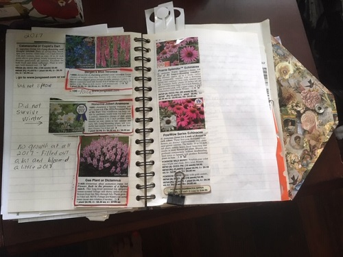 Tape in catalog descriptions and make notes -