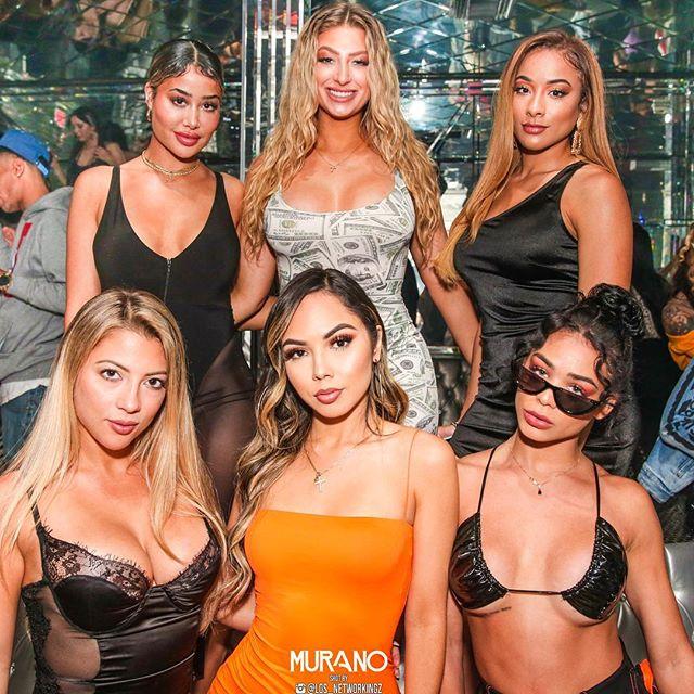 LA Nights 🍹 with 💃 Miami Girls 💎 #WestHollywood #Nightlife #Murano #Nightclub
