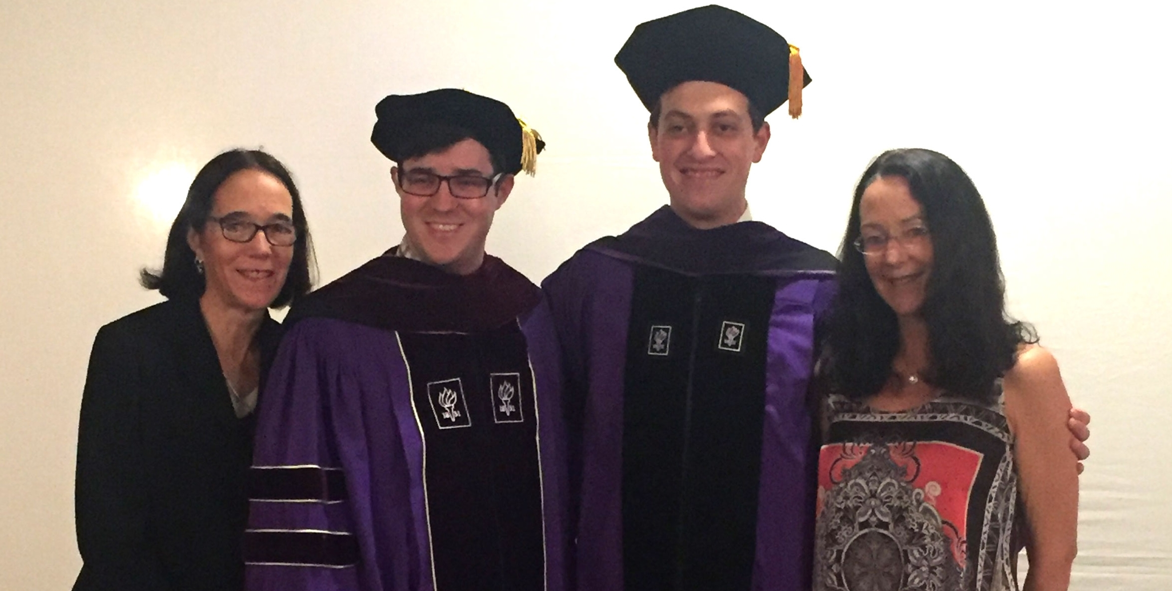 Traci Viklund, CJ Quackenbush, NYU Law Scholar Getzel Berger,    Gail Quackenbush at NYU Law Convocation