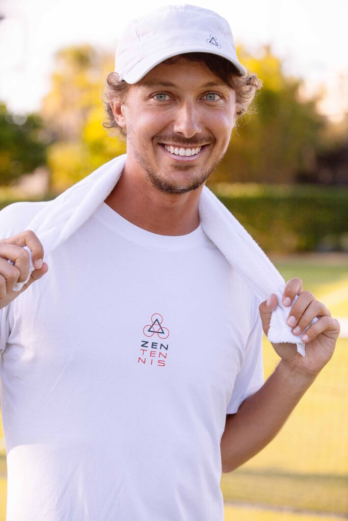 Jason Nius-Former division l player, teaching professional and creator of Zen Tennis, sustainable clothing line.