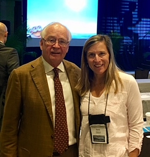 Beth Maynor with Dr. James Andrews