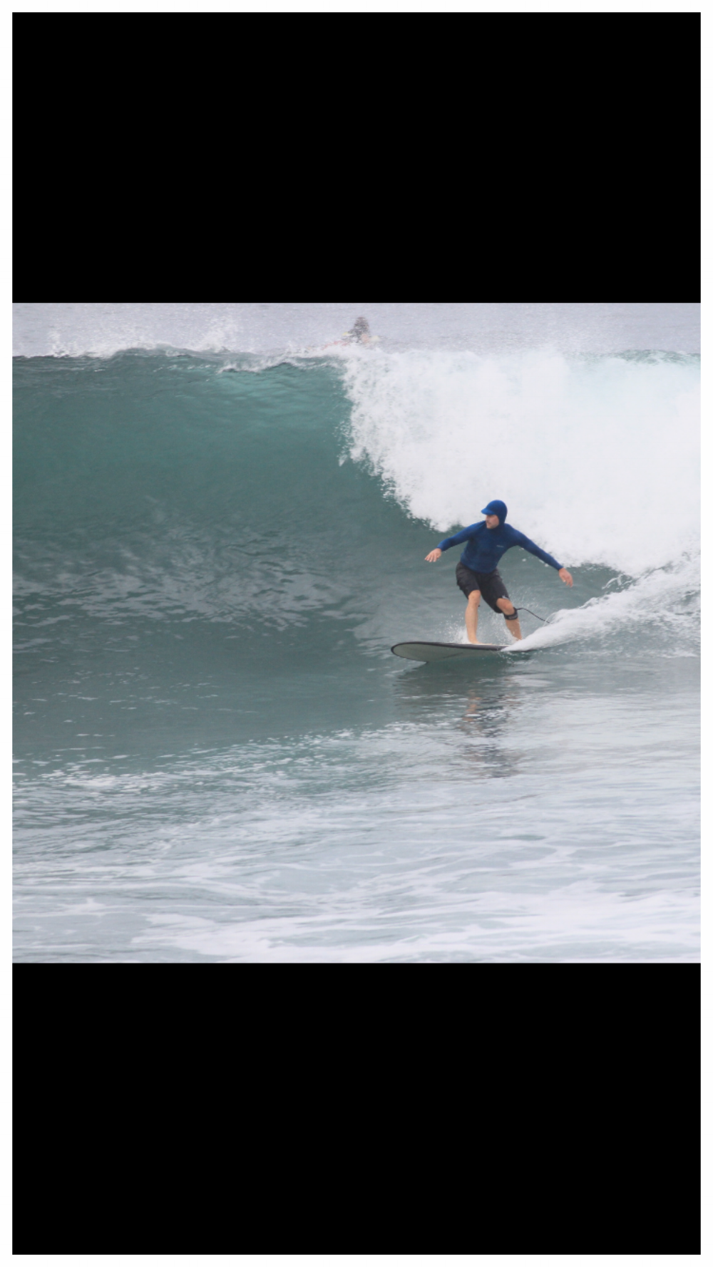 Local surfer Max Carroll needs good knee and hip stability to safely assume the surf stance which places the back knee in a valgus position