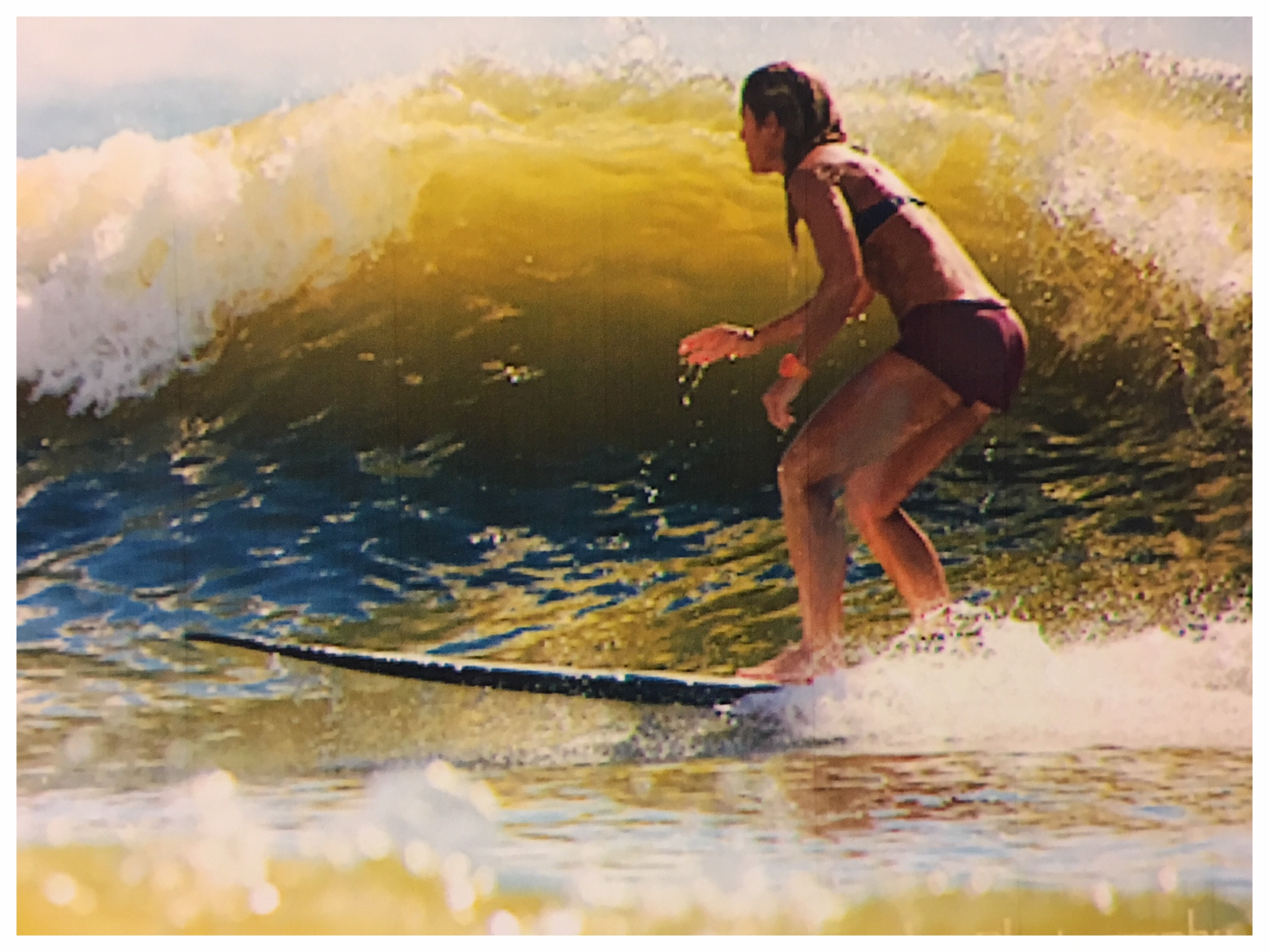 Local surfer Mary Gordon Kerr
