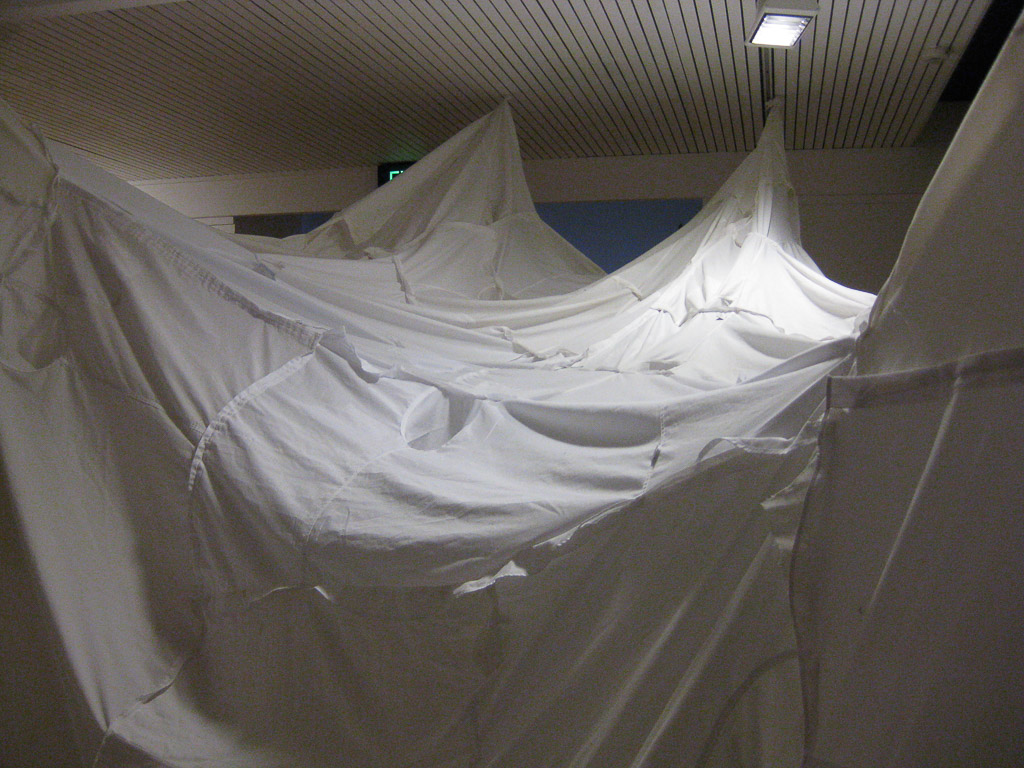 Soft Spaces - CATEGORY - InstallationMATERIAL - Recycled ShirtsYEAR - 2010