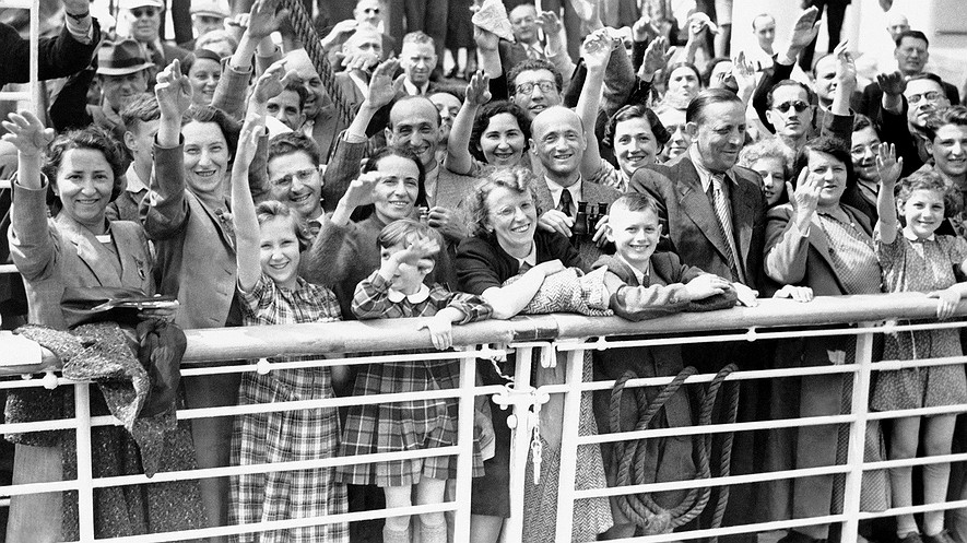 German Jewish refugees sail to Antwerp, Belgium, aboard the St. Louis. Photo credit:  Newsela