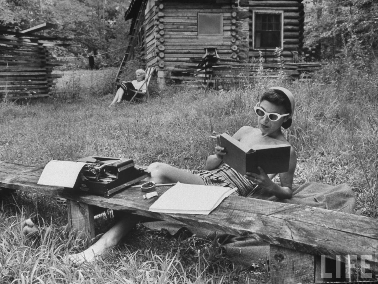 Reading in the Woods, 1959 |Life magazine