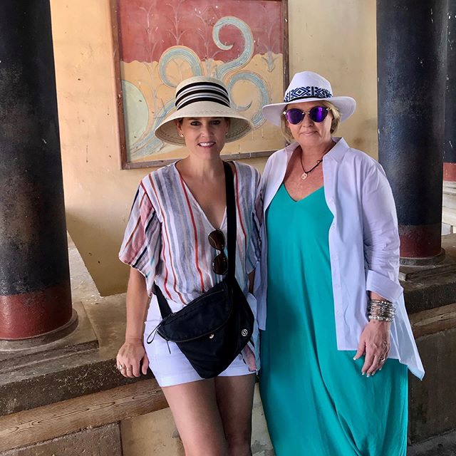 A fascinating tour of Knossos Palace today!  Knossos means major city of Crete and is the oldest city in Europe.  Further made famous because it is where King Minos constructed a labyrinth to keep his Minotaur son.  The Greeks sure had a good imagination!! Thanks @travelivecom for an amazing tour guide! #nashvilleluxurytravel  #crete #greece #travelive