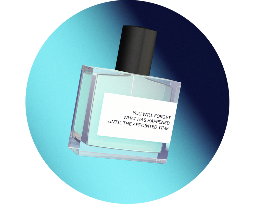Abduction | Eau de Parfum  by Joe Merrell and Christopher Gordon  Scent based on  Odors from UFOs  by Antonio Rullán.  Read document here.