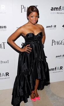 Nyasha in Jean Paul Gaultier at AMFAR Gala.jpg