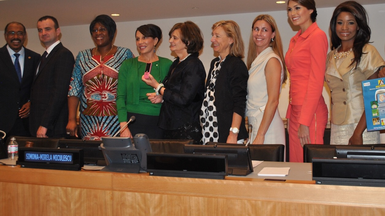 Speaking at UN General Assembly for Zero Mothers Must Die with the First Lady of Zambia, and the First Lady of Gabon