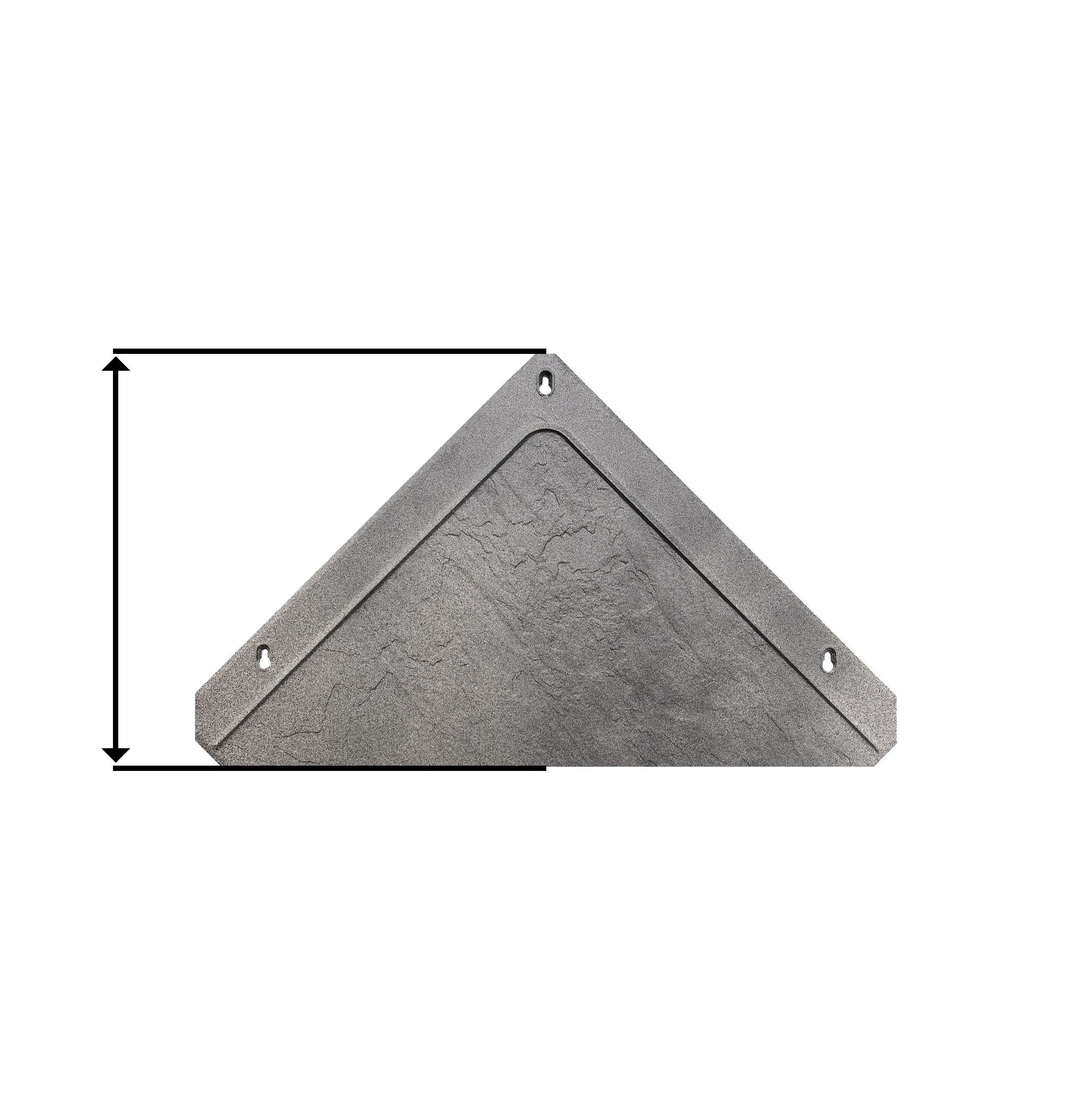 KUTTING - ・Takflisene kuttes med egnet fliskutter・Mot takrenne bør kappet være ca 30,5 cm・Fres et spor i flisen om du kapper bort skruhullet