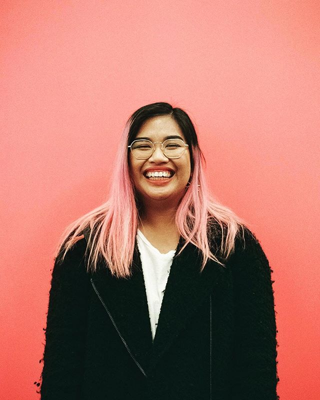 Me in my natural element: Laughing 😂 with the double chin and baring gums.  #35mmfilm #filmisalive #rewindphotolab #pinkpinkpink 📸: @aaabigaiiiiilll