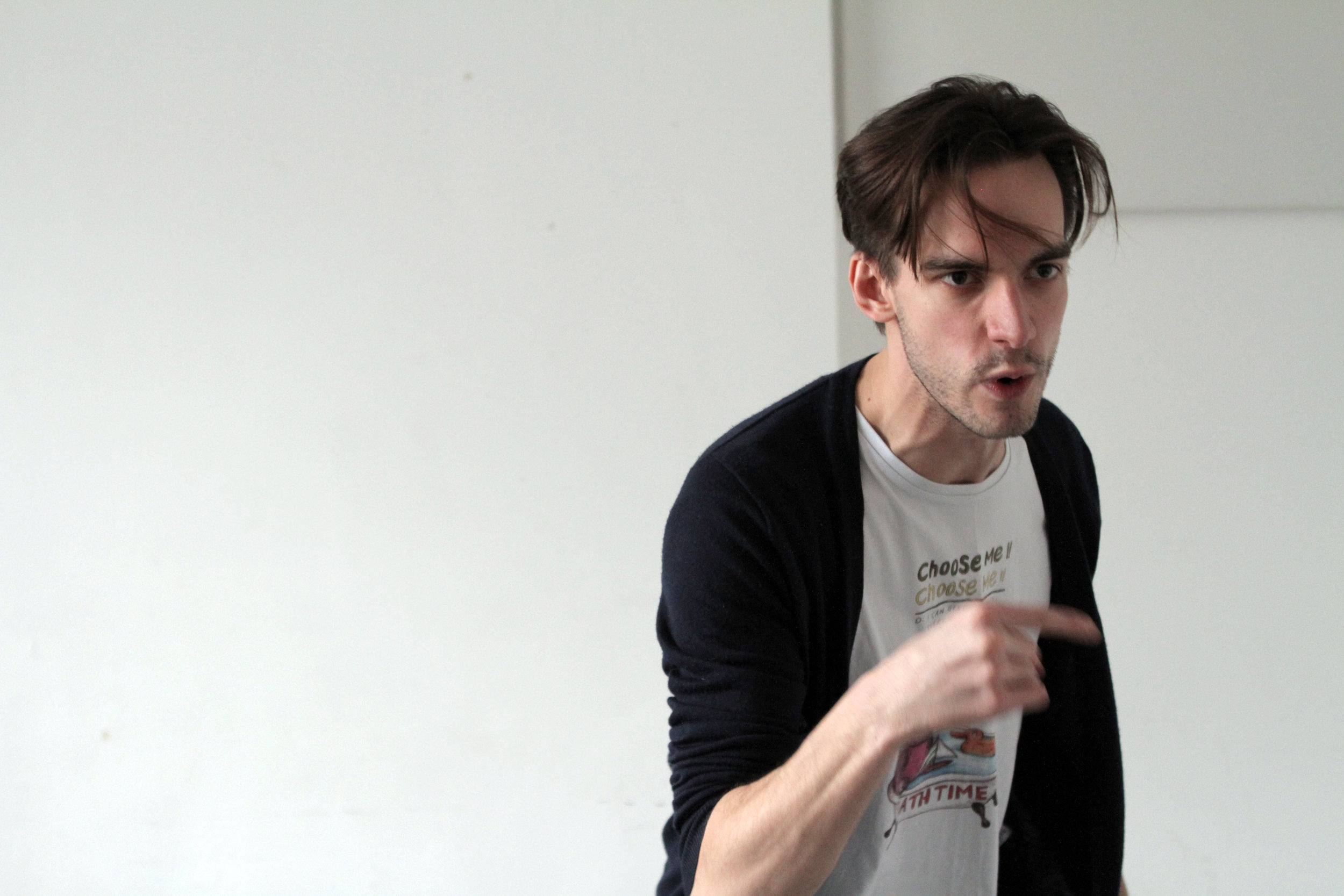 Joe Eyre in rehearsal