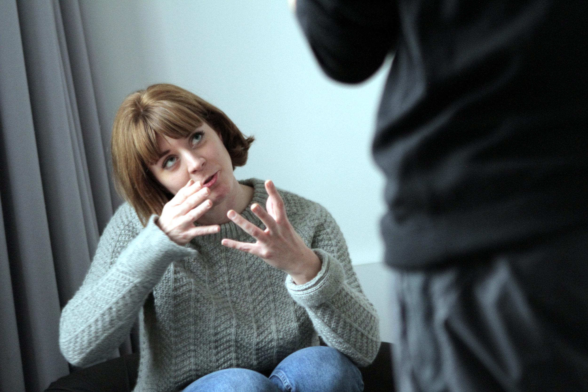 Rhiannon Sommers in rehearsal