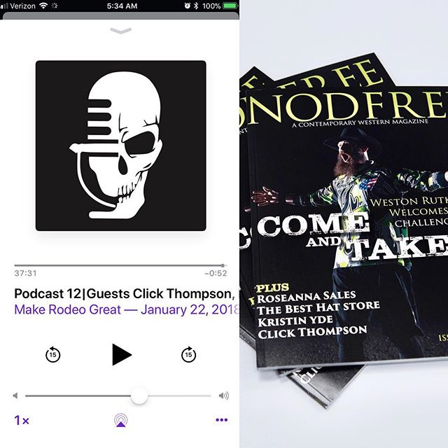 """#Repost @clickthompson with @get_repost ・・・ Check Out!! the """" Make Rodeo Great"""" Podcast on Apple podcast, Google play or at @2mbrand This week I was on talking about my new project @nodfreemag and some new things coming up with #clickthompsonphotography"""