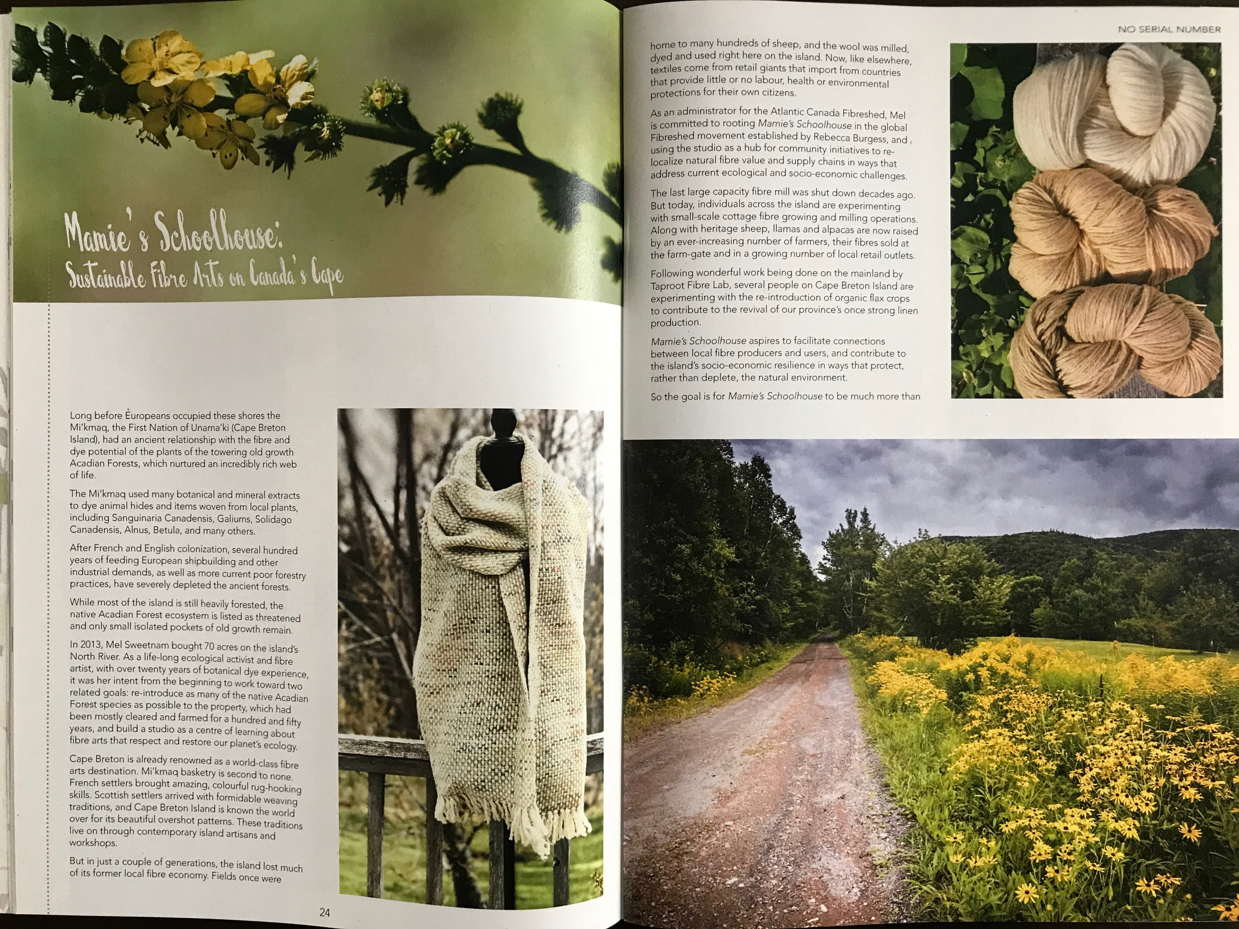 International Sustainable Craft magazine… - The Spring 2018 issue of No Serial Number included a four page article on Mamie's Schoolhouse.