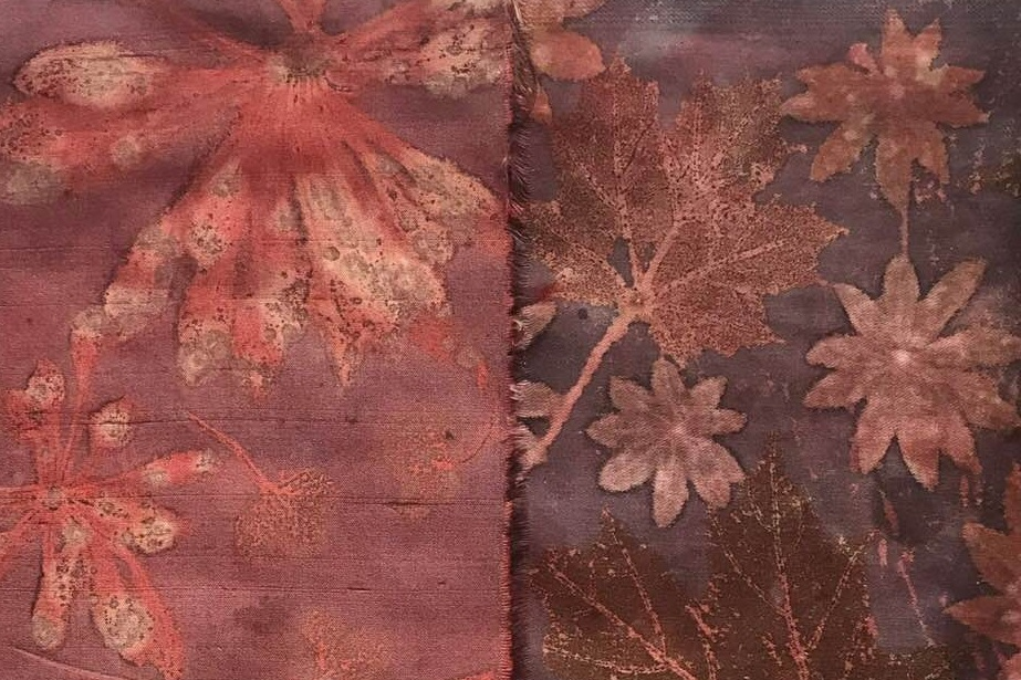 Module III:Surface Design 1 - combining eco-print with background colour