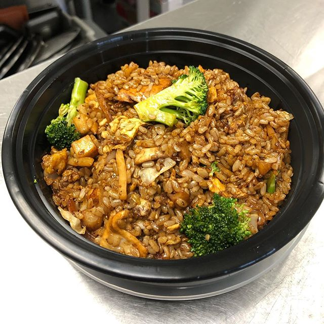 Want a delicious meal! Try the mushroom soy flavor with chicken today! #whatthefriedrice #eatfriedrice #yummy