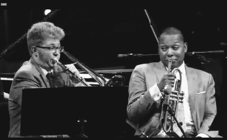 with the wynton marsalis septet in Marciac, France, 2015