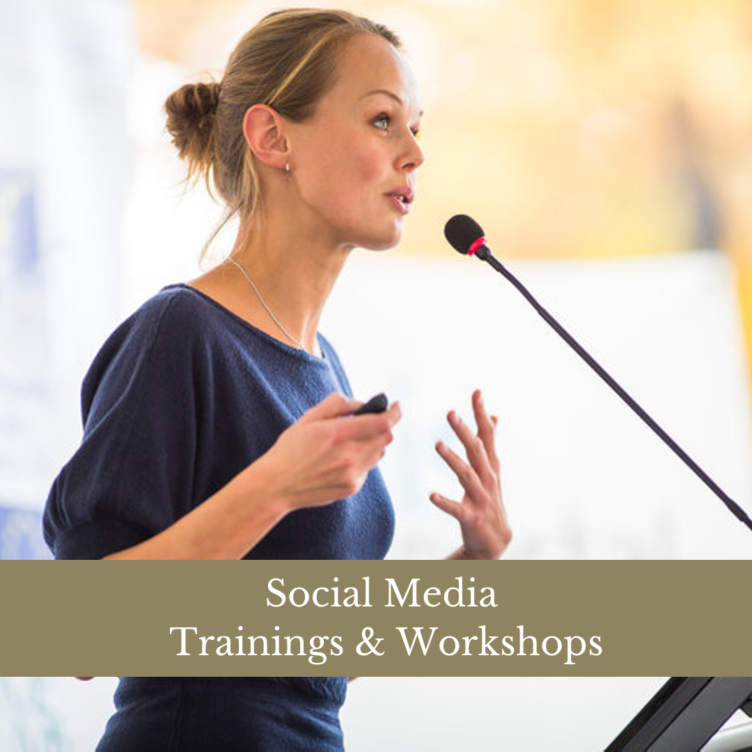 SOCIAL MEDIA WORKSHOPS & TRAININGS - Interested in better understanding how your business can best use social media? Unsure of how to assist your team to meet your online marketing goals? We offer 1:1 or group trainings customized to your business needs.