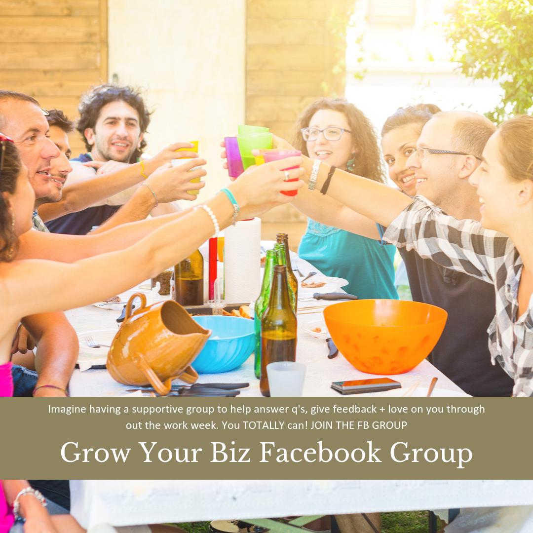 Grow Your Biz With Social Media Facebook Group