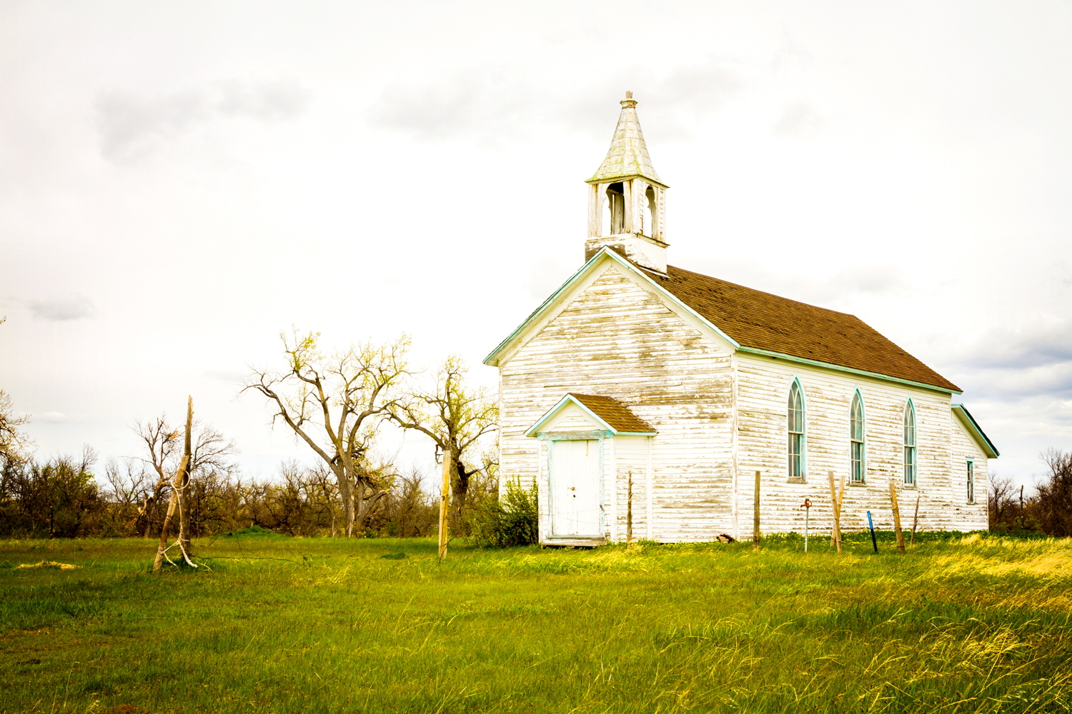 """""""Our Lady of Good Council Catholic Church"""" May 12th, 2014 along the White River on the Pine Ridge Indian Reservation, SD"""