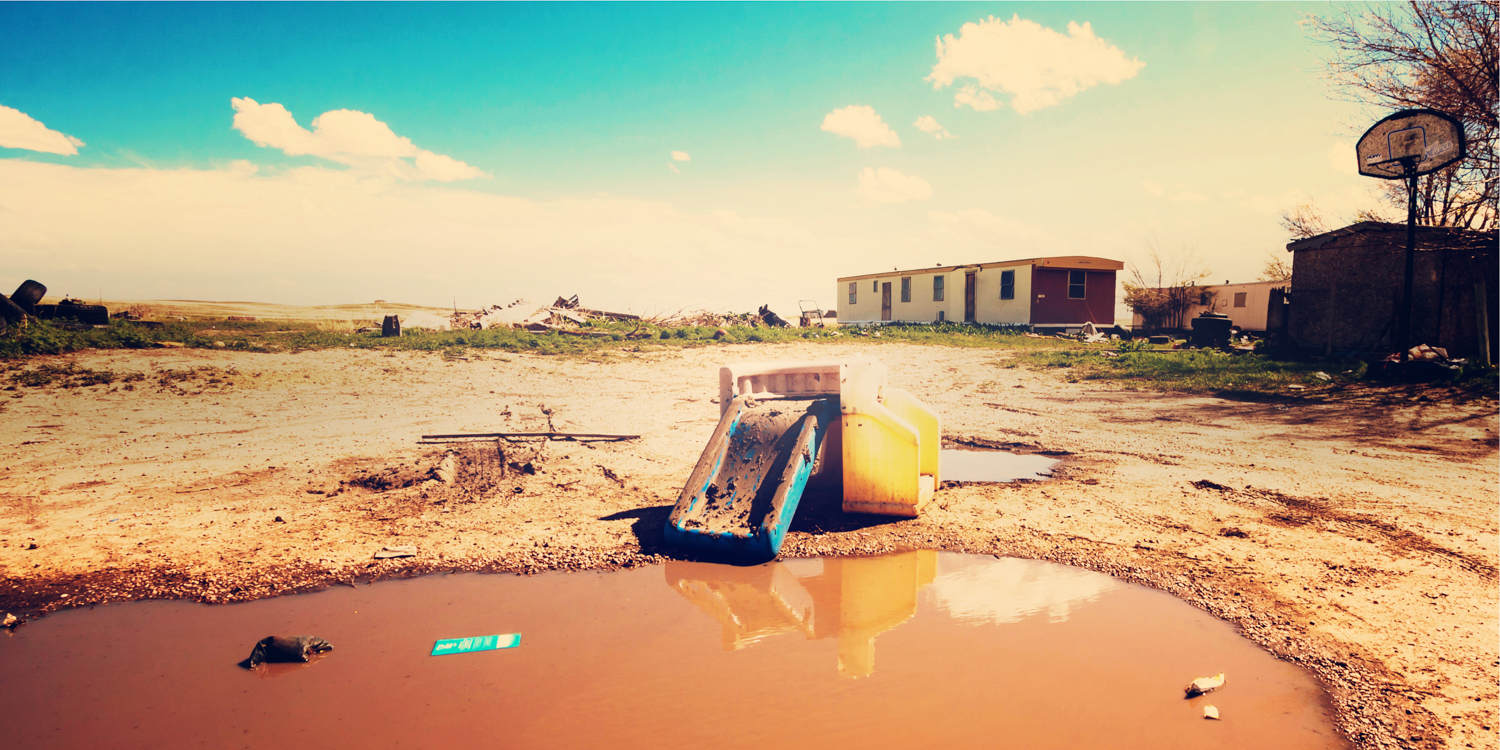 """""""Mud Slide"""" May 10th, 2014 on the Red Shirt Table on the Pine Ridge Indian Reservation, SD"""