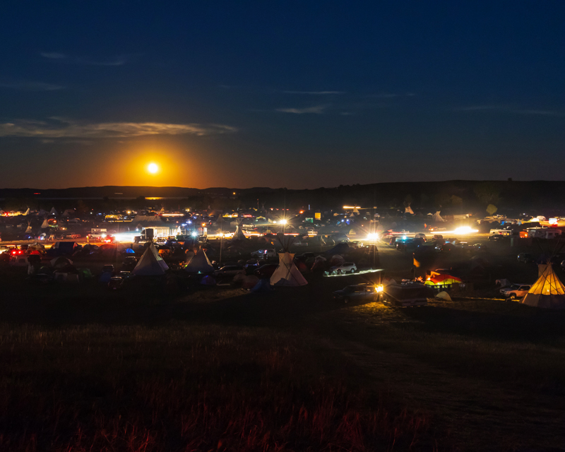 """""""The First Night"""" September 17th, 2016 at Oceti Sakowin on the Standing Rock Sioux Reservation near Cannonball, ND"""