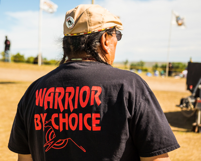 """""""Warrior by Choice"""" September 18th, 2016 at Oceti Sakowin on the Standing Rock Sioux Reservation near Cannonball, ND"""