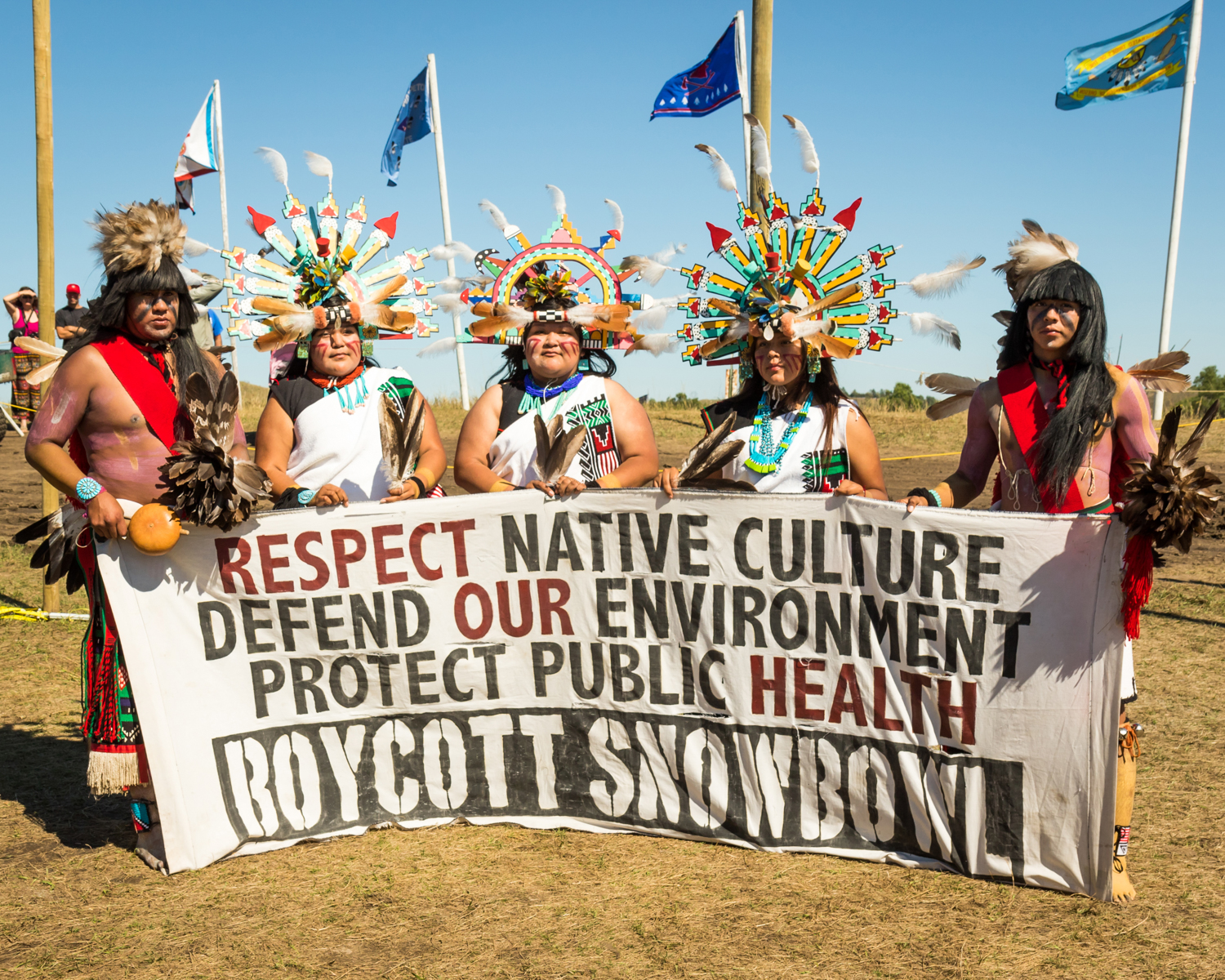 """""""Hopi Thoughts"""" September 18th, 2016 at Oceti Sakowin on the Standing Rock Sioux Reservation near Cannonball, ND"""