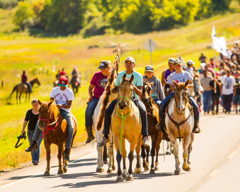 """Horseback Water Protectors"" September 17th, 2016 near Cannonball, ND"