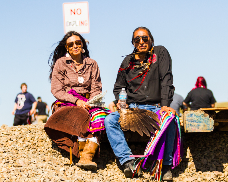 """""""Nyla and David Swallow"""" at the Dakota Access Pipeline crossing near Cannonball, ND"""