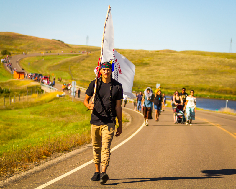 """""""A Native Youth Led Movement"""" September 17th, 2016 near Cannonball, ND"""