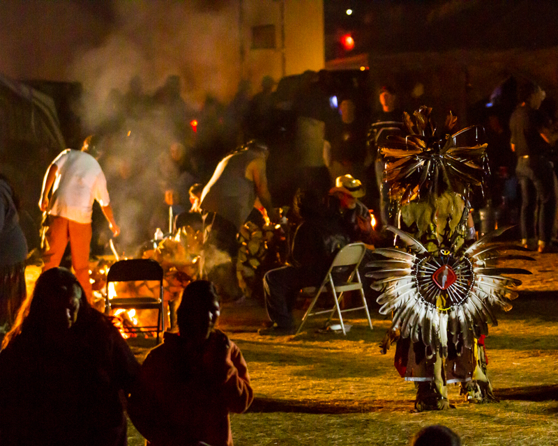 """""""Oceti Night Dancer"""" September 17th, 2016 at Oceti Sakowin on the Standing Rock Sioux Reservation near Cannonball, ND"""