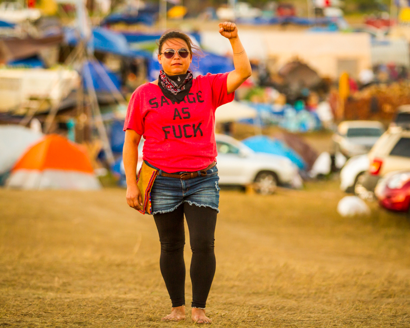 """""""Tori Cress"""" September 18th, 2016 at Oceti Sakowin on the Standing Rock Sioux Reservation near Cannonball, ND"""
