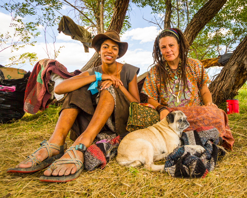 """""""Hannah Gladstone and Loretta Red Dog"""" September 18th, 2016 at Oceti Sakowin on the Standing Rock Sioux Reservation near Cannonball, ND"""