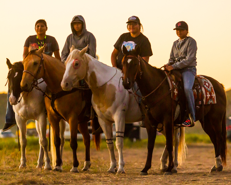 """""""Oceti Security"""" September 18th, 2016 at Oceti Sakowin on the Standing Rock Sioux Reservation near Cannonball, ND"""