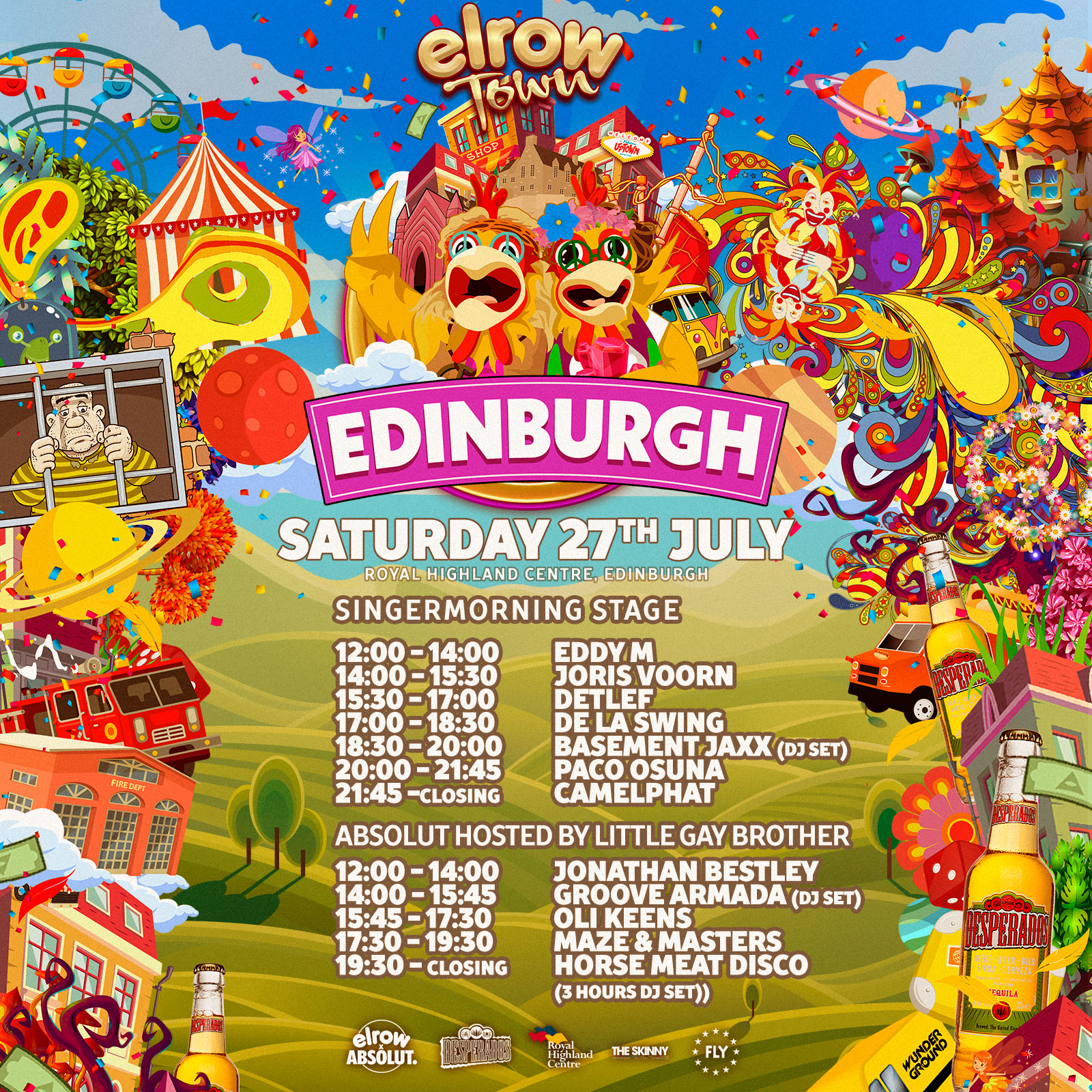 elrow town - 27th july 2019 @edinburghLITTLE GAY BROTHER HOST THE PINK CATHEDRAL FOR ELROW TOWN EDINBURGH WITH GROOVE ARMADA, HORSE MEAT DISCO, MAZE & MASTERS, OLI KEENS AND JONATHAN BESTLEY