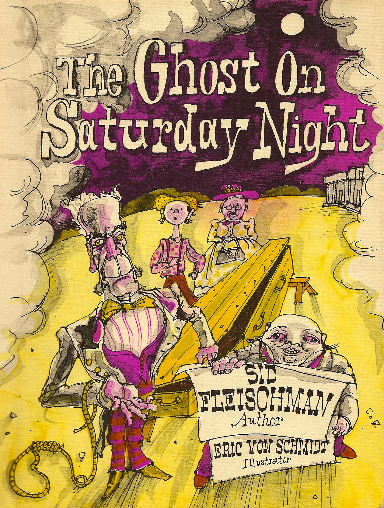 The Ghost on Saturday Night - Illustrated by Laura Cornell The ghost of Crookneck John, a notorious outlaw, gets loose.