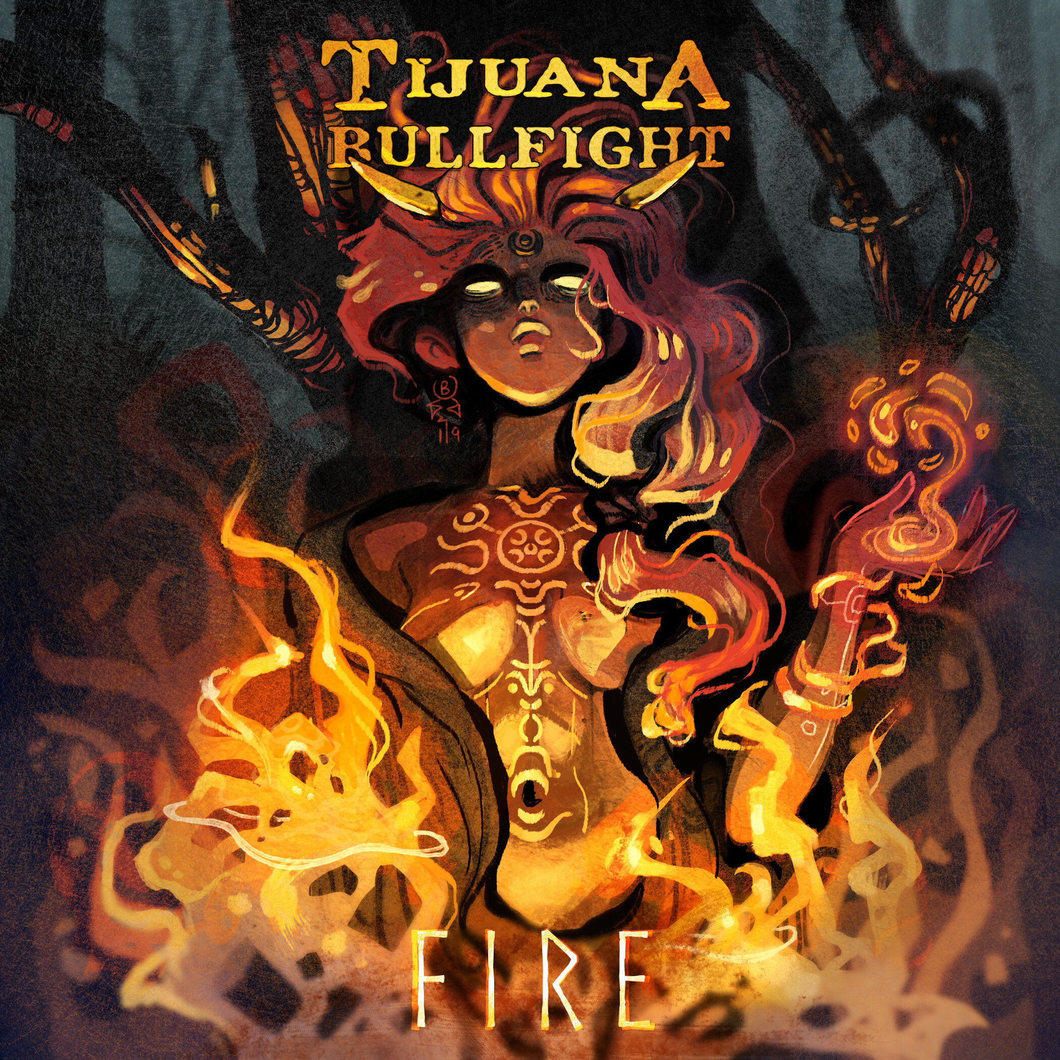 FIRE |  cover art for LA band Tijuana Bullfight