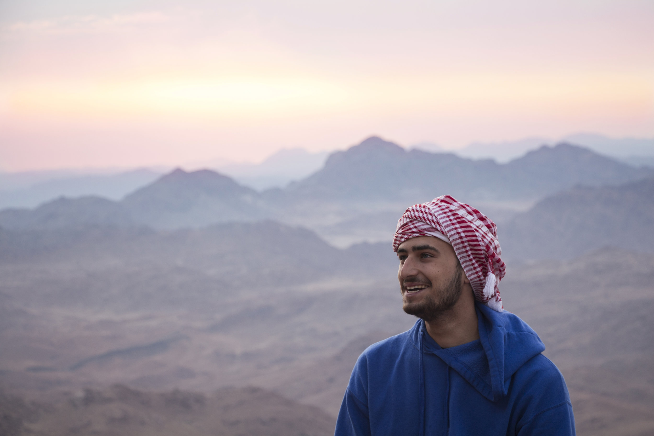 Oriol Paya (Catalonia/Spain) Summit at sunrise on Mount Sinai, Egypt. 18th of August 2017