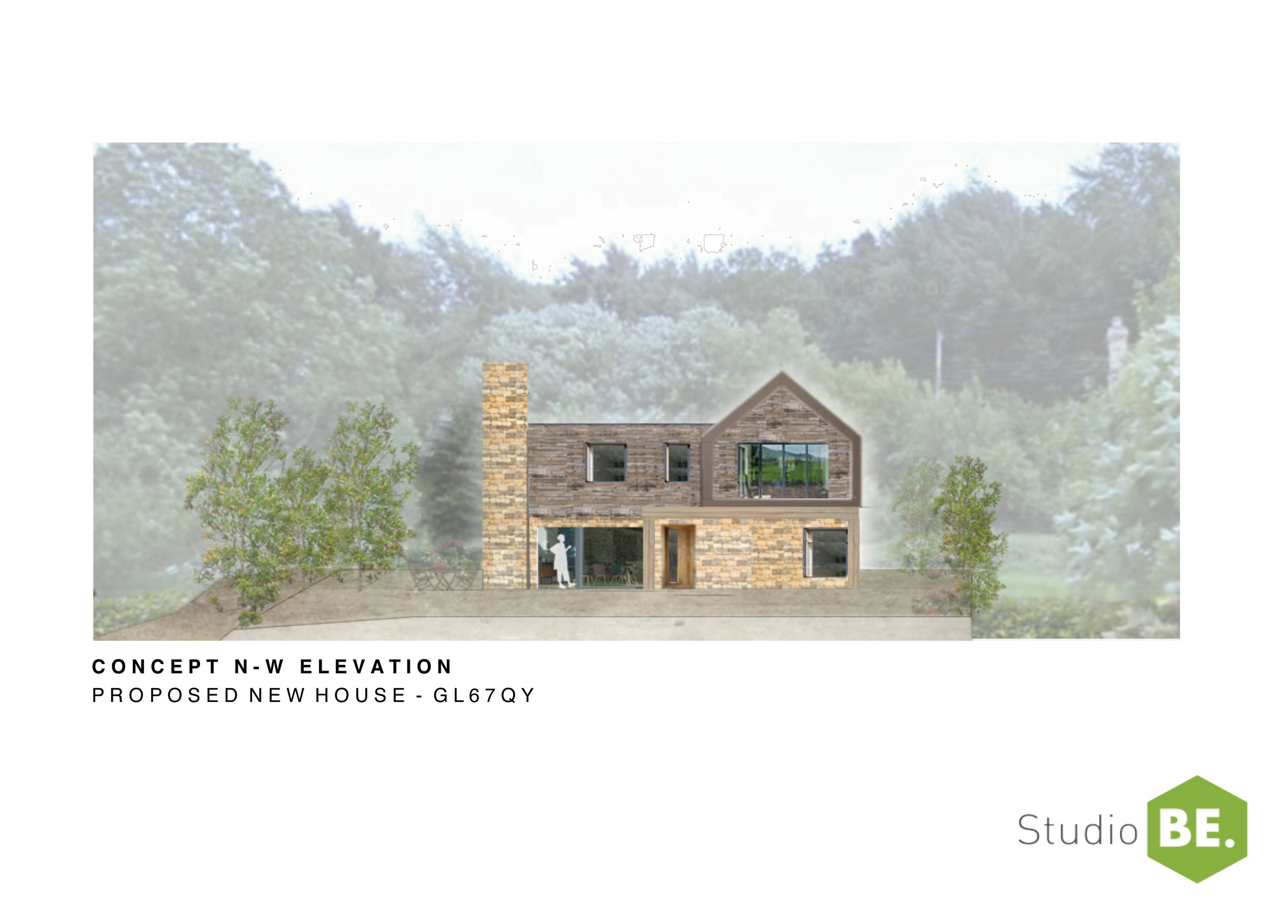 The project is a healthy, low energy new build house near Stroud, Gloucestershire. The key objective is for that building provides a regenerative, non-toxic living environment to reduce the applicants on-going multiple chemical sensitivity (msc) condition.