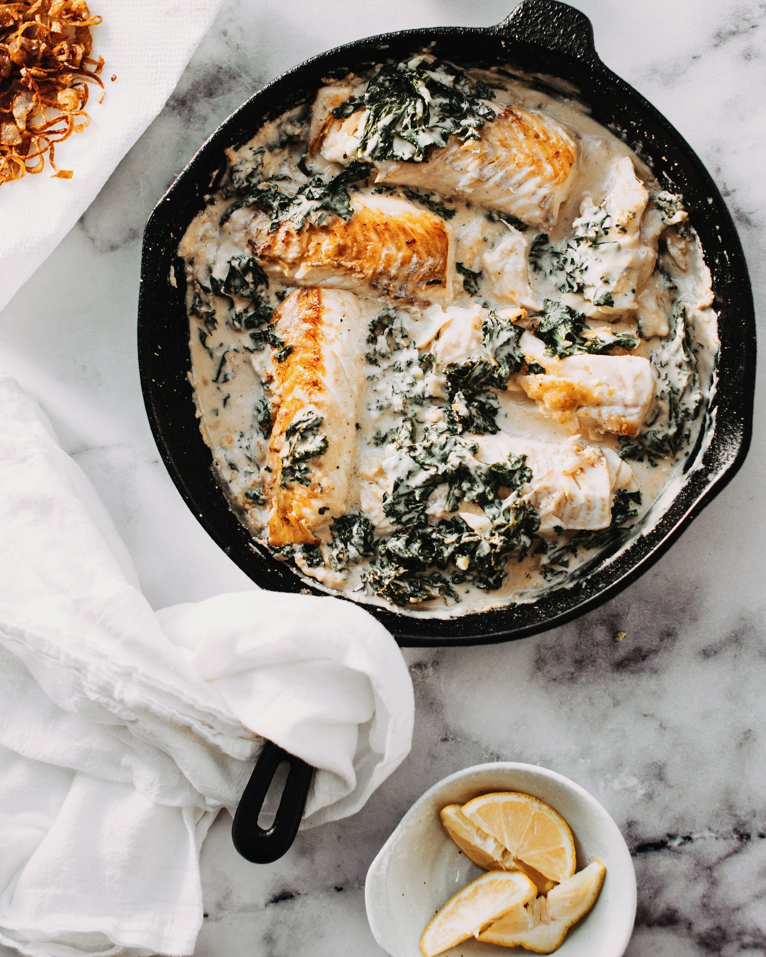 """An easy swap to limit the exposure to PFAS — use a cast iron skillet instead of a pan with """"non-stick"""" coating"""