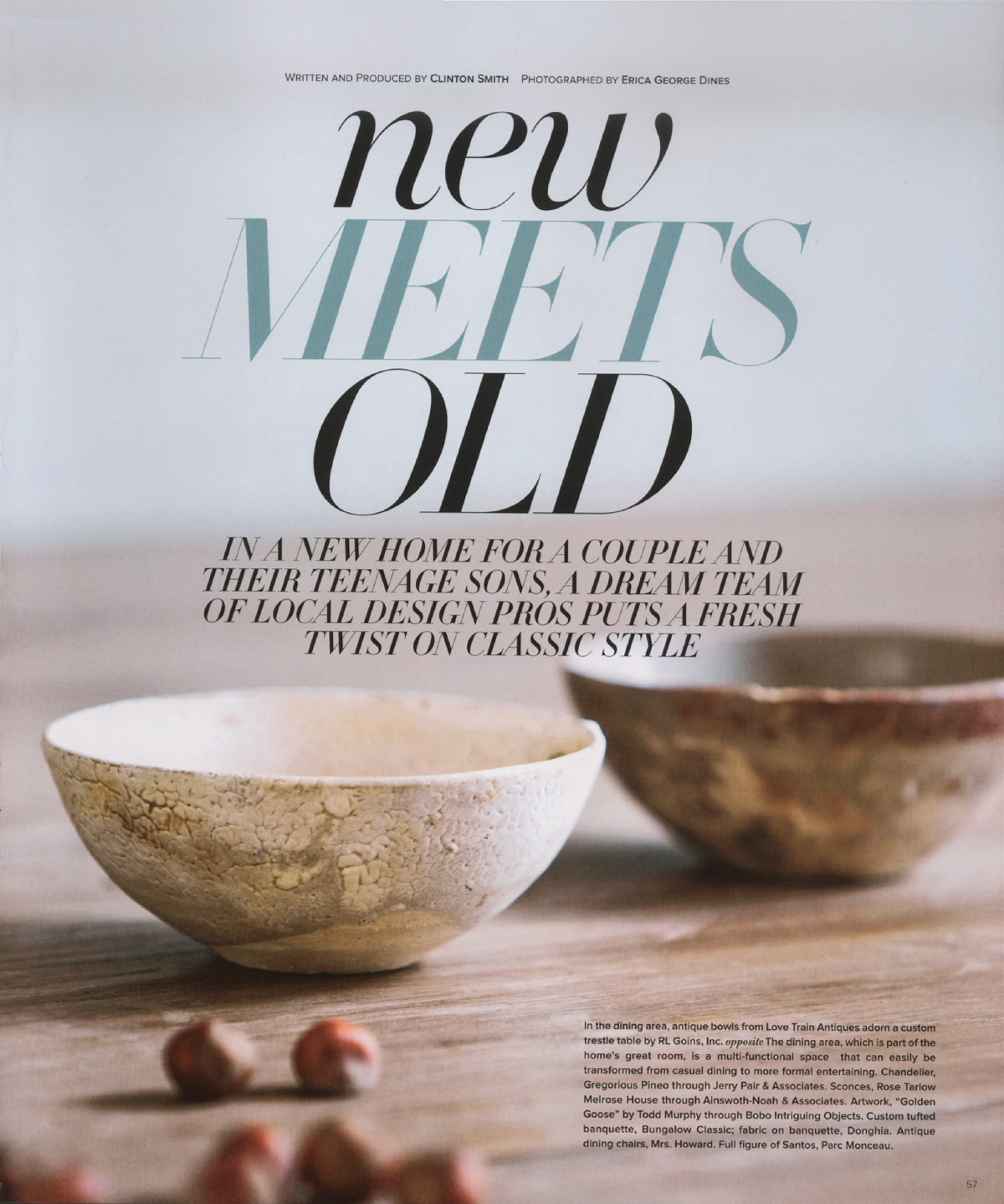 New Meets Old - Published in Atlanta Homes & Lifestyles, October 2010