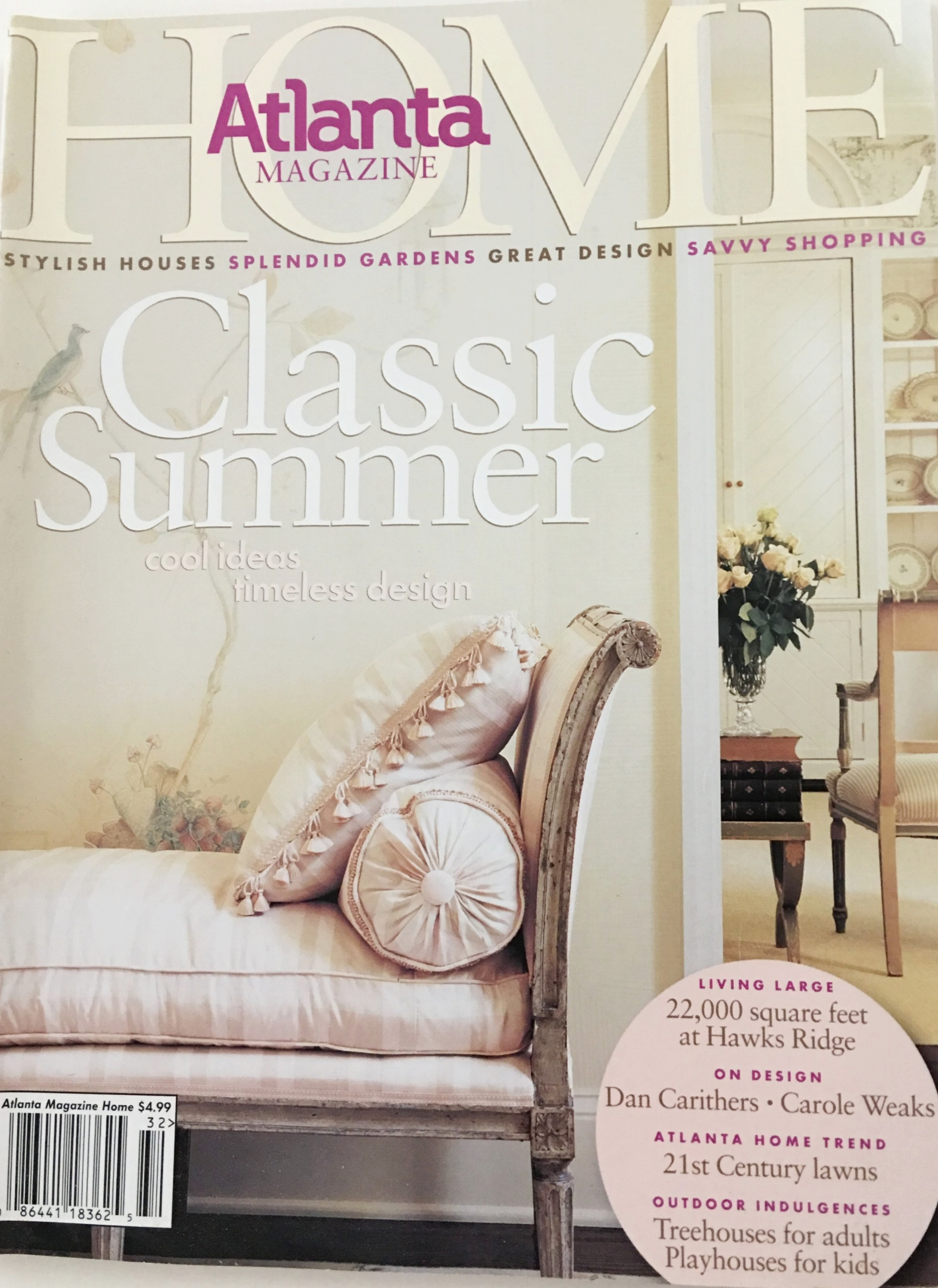 Endless Summer - Published in Atlanta Magazine's Home, Summer 2003
