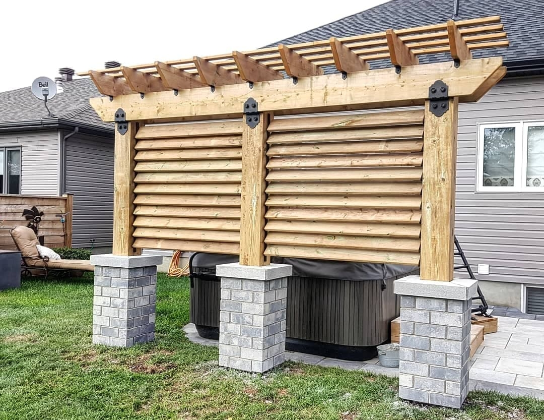 Exterior Structures - Sheds, garages, gazebos, pergolas, privacy screens... We do it all! Contact us today to get started on your outdoor summer project!