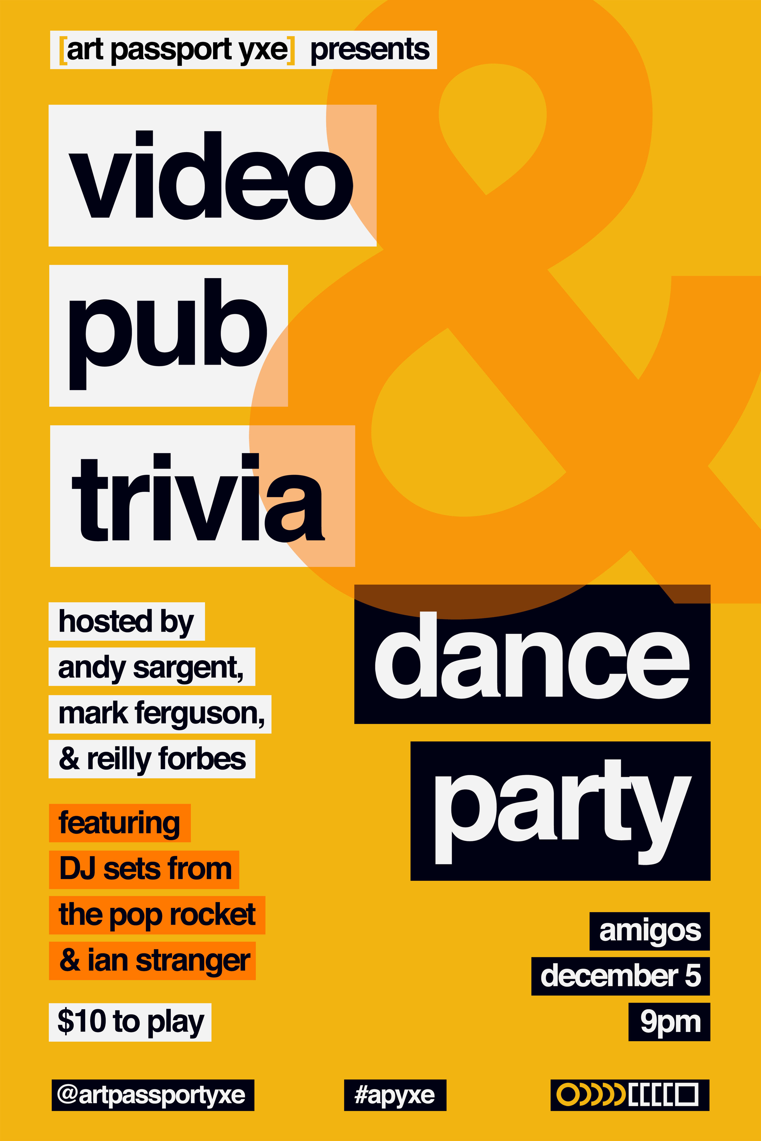 Video Pub Trivia fundraiser poster